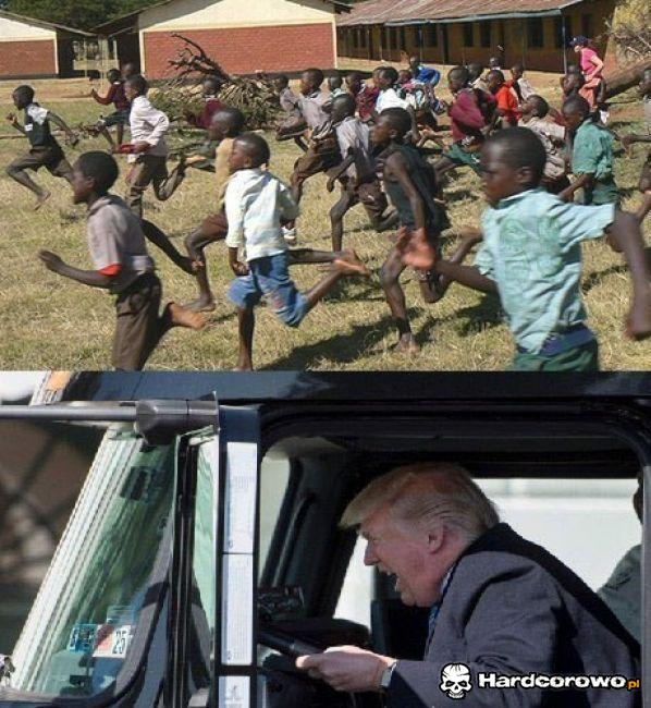Trump za kółkiem - 1