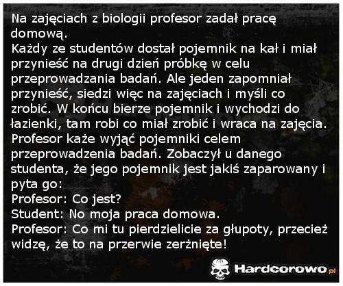 Zajęcia z biologii - 1