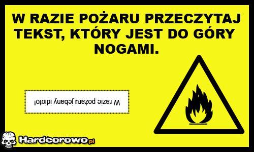 W razie pożaru - 1