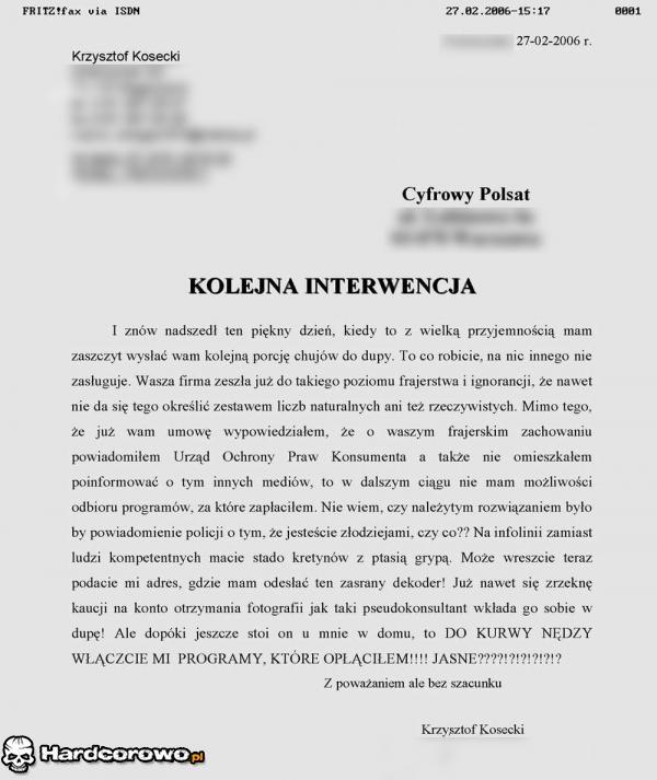 Konkretny list od klienta - 1