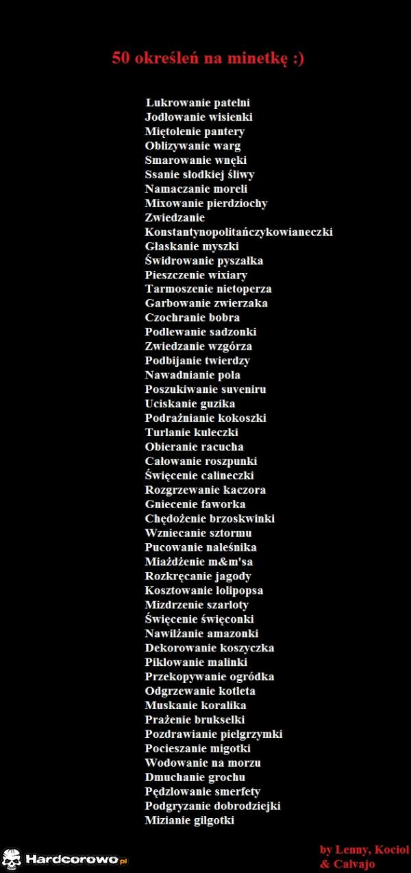 50 określeń na minetkę - 1