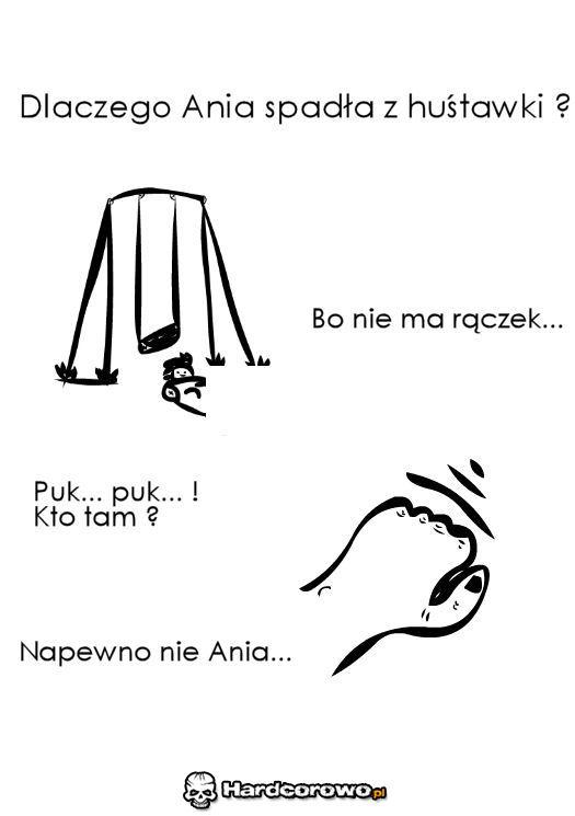 Dlaczego Ania spadła z huśtawki? - 1