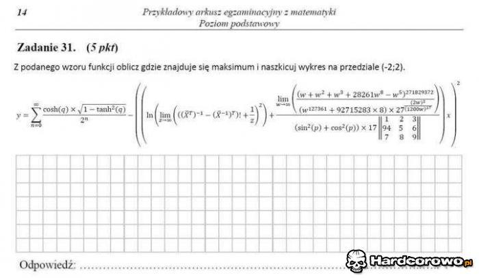 Hardcorowy egzamin - 1