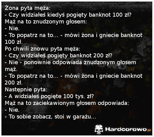 Pogięty banknot - 1