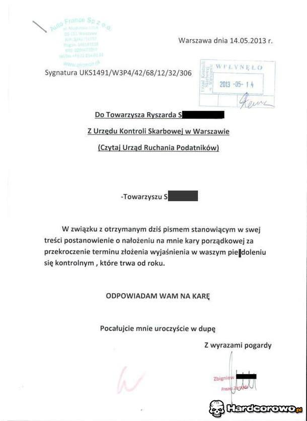 Oficjalne pismo  - 1