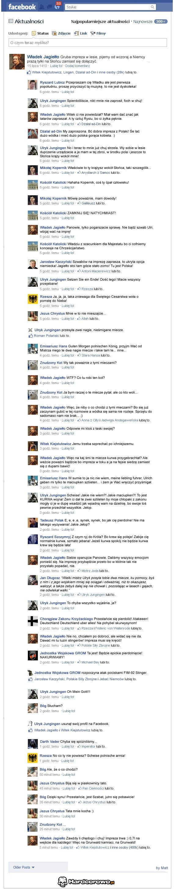 Rozmowa na Facebooku - 1