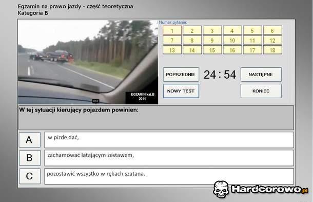 Egzamin na prawo jazdy - 1