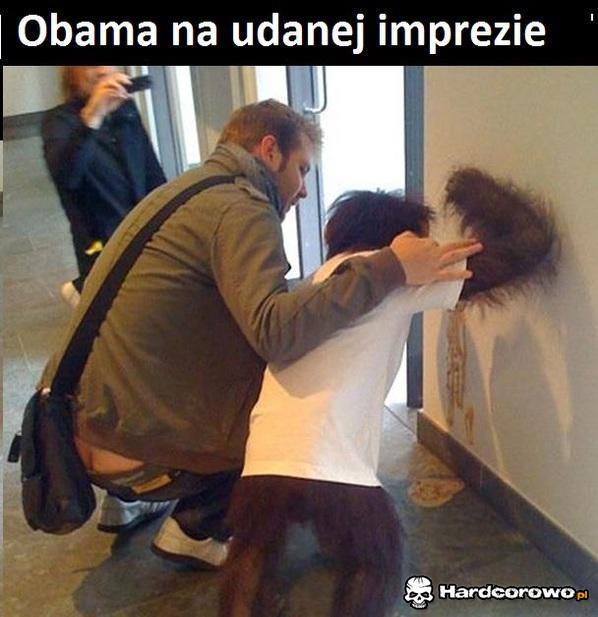 Obama na udanej imprezie  - 1