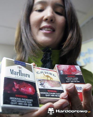 Zdjęcia na opakowaniach papierosów - 1