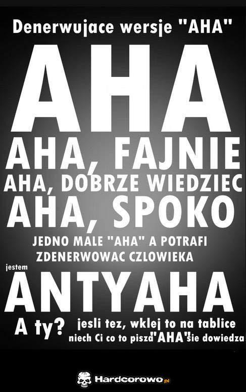 Aha - 1