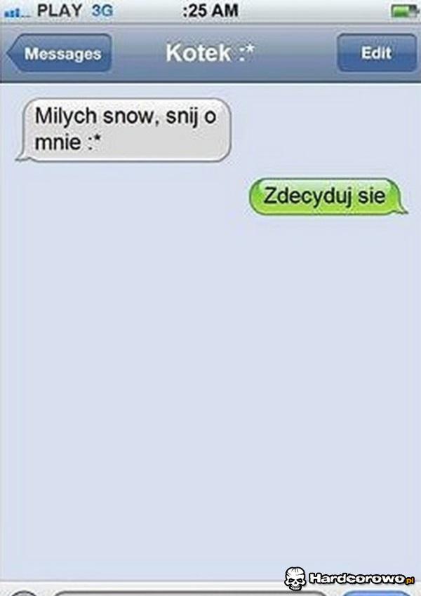 SMS na dobranoc - 1