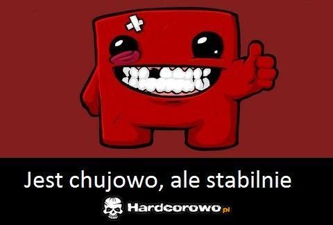 Chujowo ale stabilnie - 1