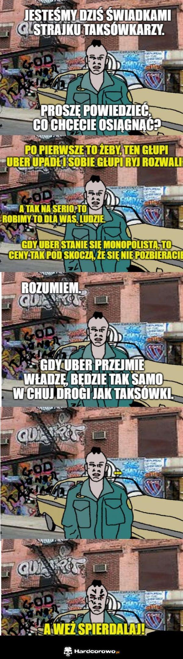 Strajk taksówkarzy - 1