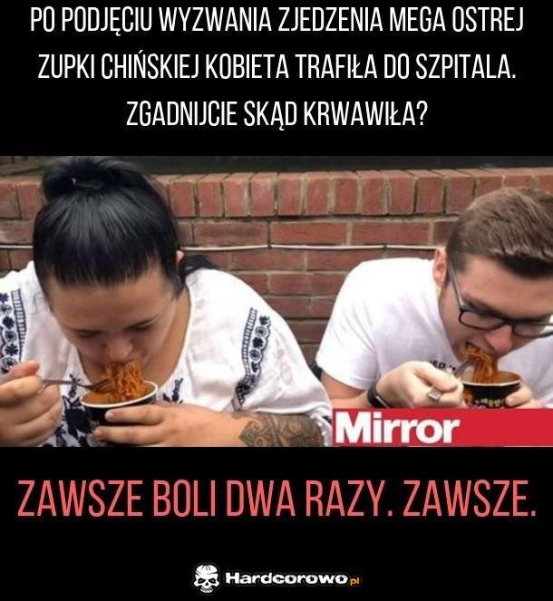 Niebezpieczna zupka chińska - 1