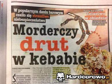 Morderczy drut w kebabie - 1