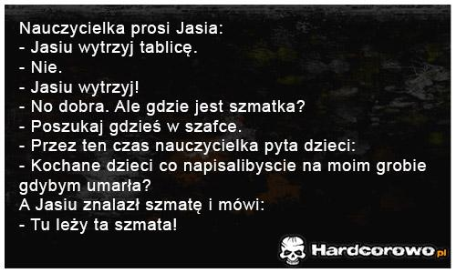 Nauczycielka prosi Jasia - 1