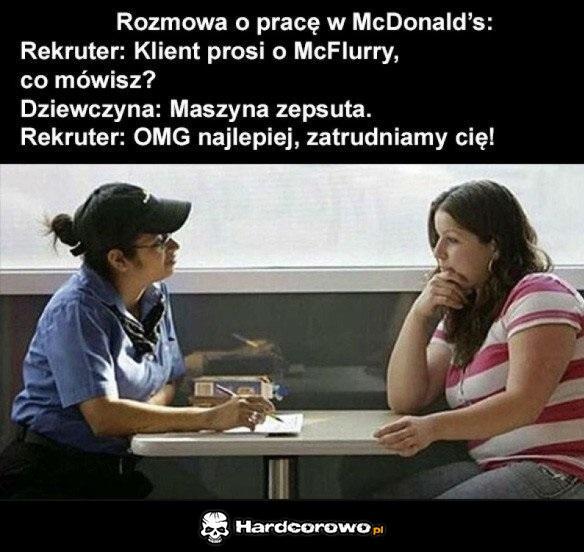 Rozmowa w McD - 1