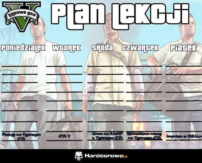 Plan Lekcji - 1