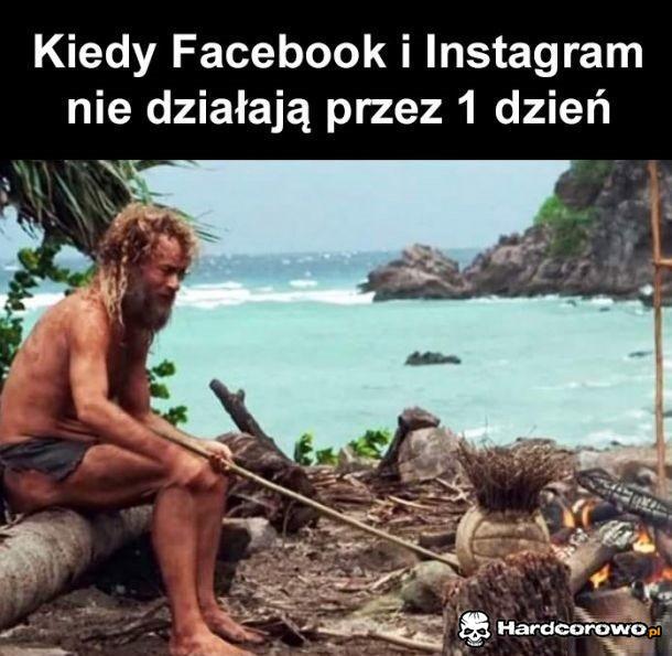 Kiedy Facebook i Instagram nie działają przez 1 dzień - 1